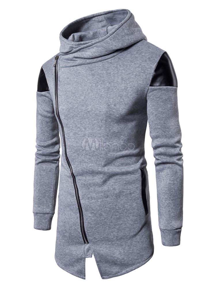 Buy Full Zip Hoodie Men Hoodie Long Sleeve Regular Fit Long Sweatshirt for $26.99 in Milanoo store