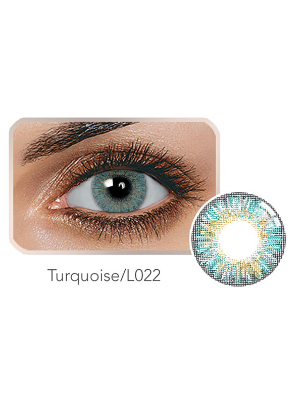 Color Contact Len Turquoise Tri Color Yearly Colored Contact Cheap clothes, free shipping worldwide