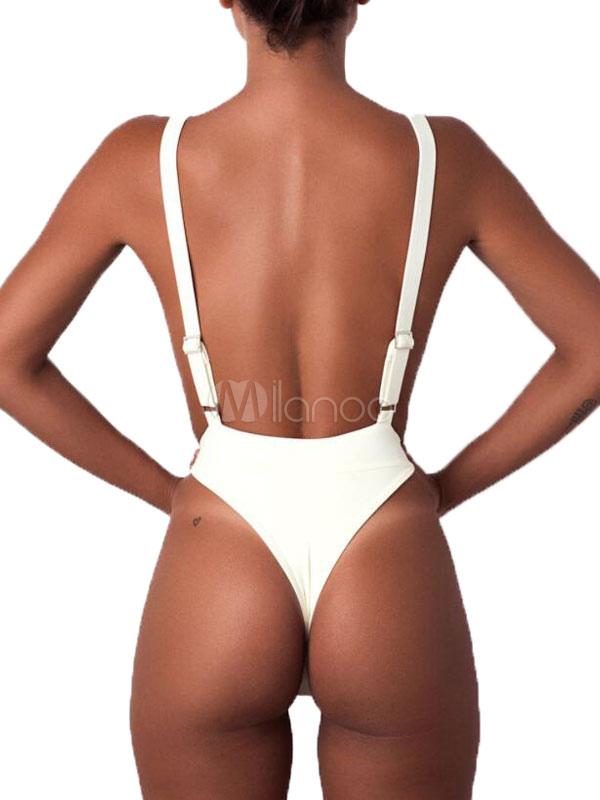 Sin Las Mujeres Traje Tirantes Negro Para De Monokini Espalda Baño vymn8wON0