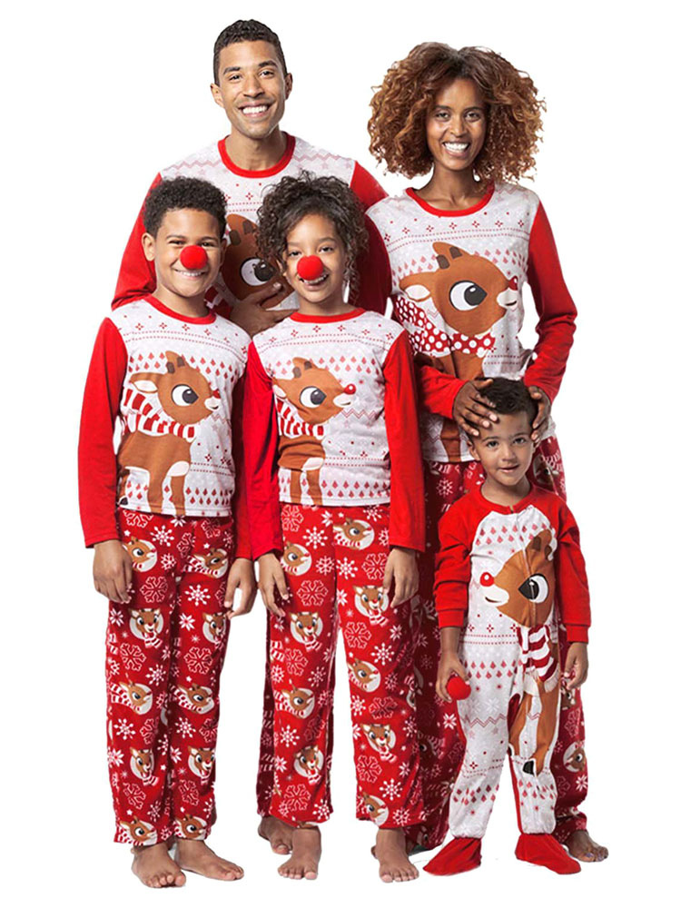 Christmas Jumpsuit Baby.Matching Family Christmas Pajamas Red Printed Jumpsuit Baby Onesie