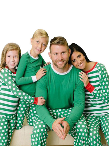Matching Family Christmas Pajamas.Matching Family Christmas Pajamas For Women Green Striped 2 Piece Pjs