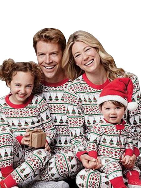 Weihnachten Pyjama Familie.Weihnachten Pyjama Familie Kinder Unisex Rot 2 Stück Pjs