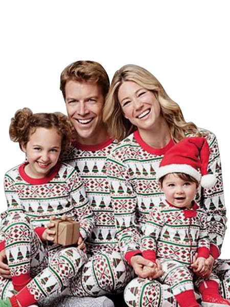 0637c3a5663840 Christmas Pajamas Family Baby Red Jumpsuit Winter Onesie