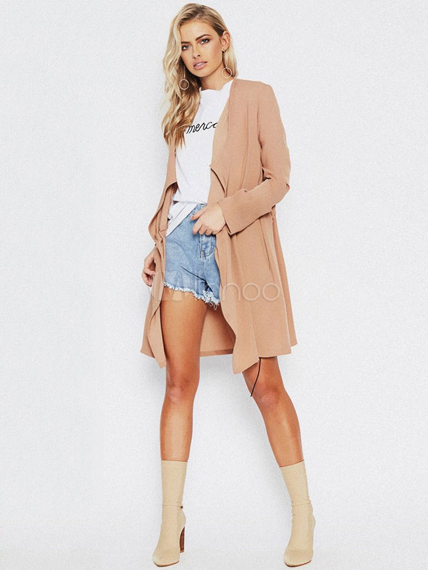 Oversized Women Cardigan Long Sleeve Linen Open Front Jacket