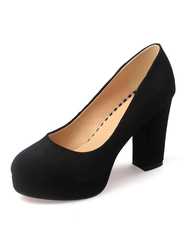 black platform heel shoes