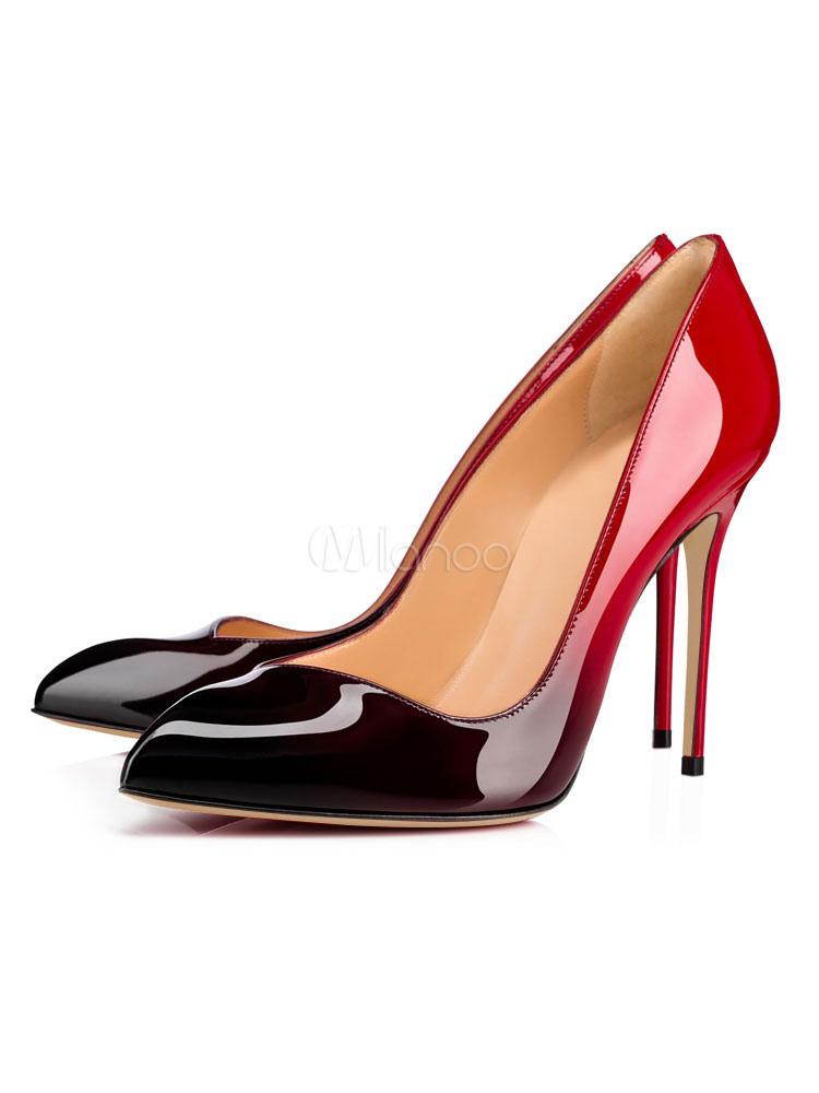 Zapatos Peep toe de PU Gradientes de tacón de stiletto para mujer arBOB