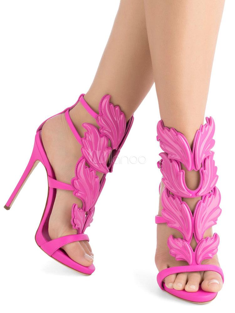 Rose Gladiator Sandals High Heel Sandals Open Toe Designed Sandal Shoes