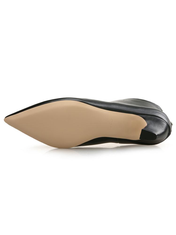 72f47d2f80 ... Women Ankle Boots Kitten Heel Booties Pointed Toe Zip Up Booties-No.3  ...
