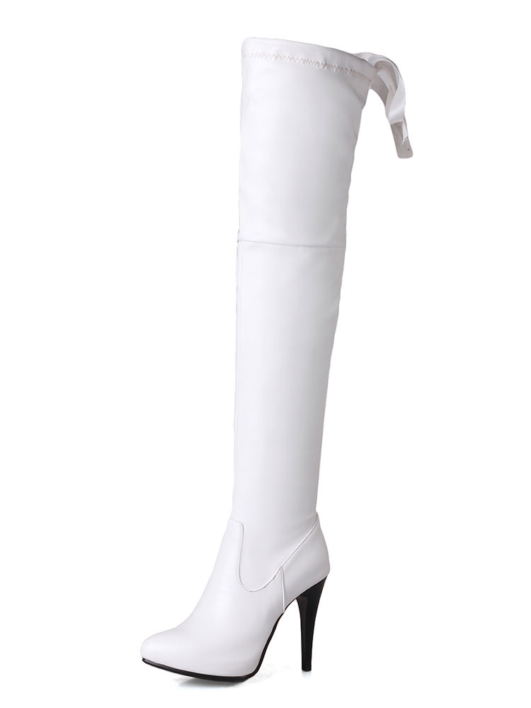 Thigh High Boots Womens Pointed Toe