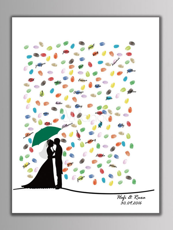 Wedding Fingerprint Painting Signature Party DIY Personalized Couple (6 Colors Ink)
