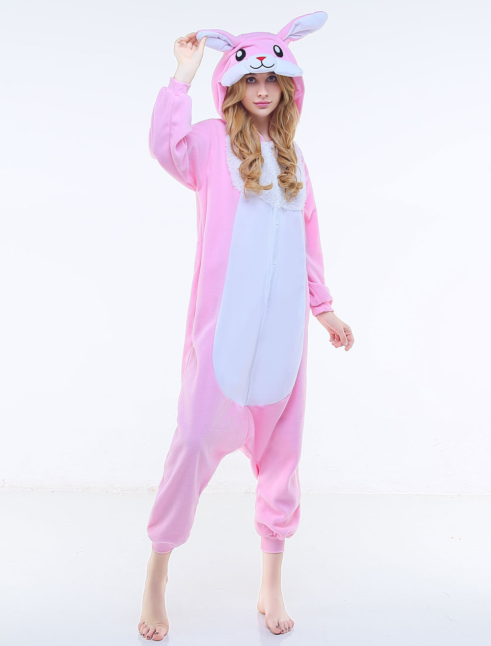 79674e6618e5 Kigurumi Pajama Easter Bunny Onesie Mascot Synthetic Halloween-No.1 ...