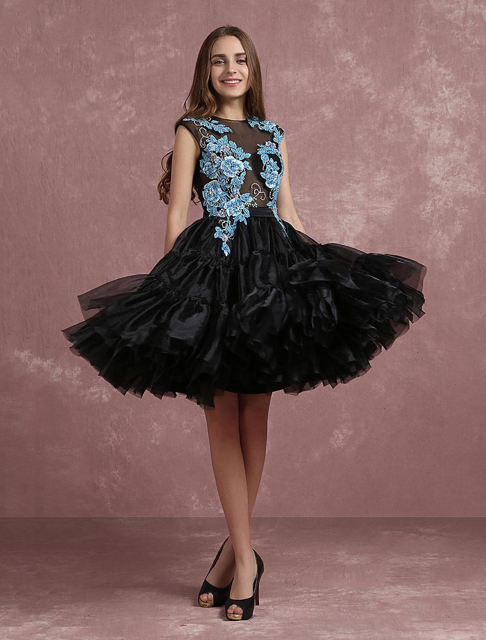 3e6e547b03 vestidos de gala negro con escote redondo sin mangas con cuentas -No.1 ...