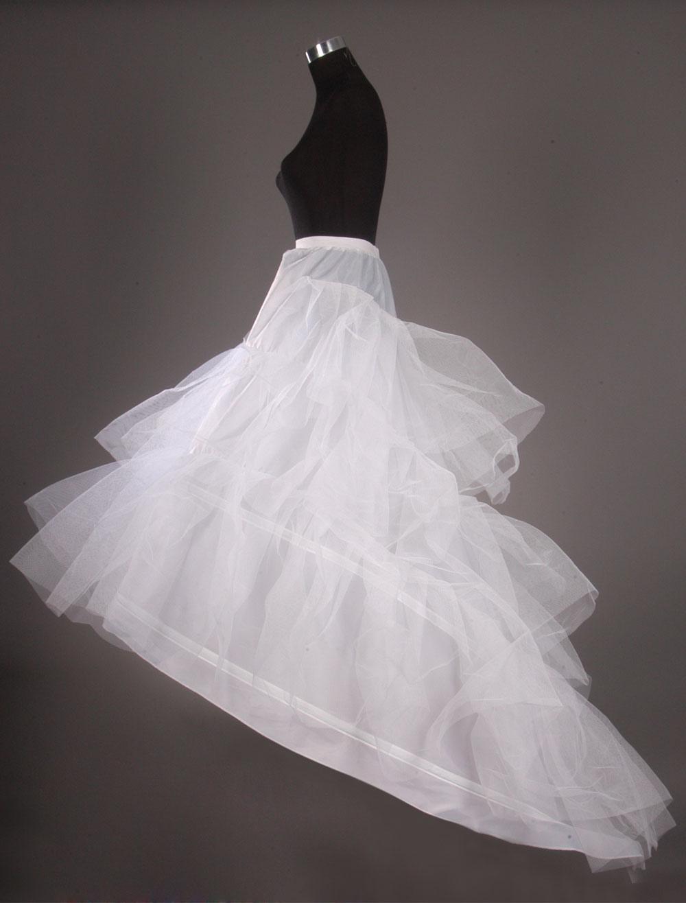 Layered Two-Tier Net Fashion Chapel Train Wedding Petticoat