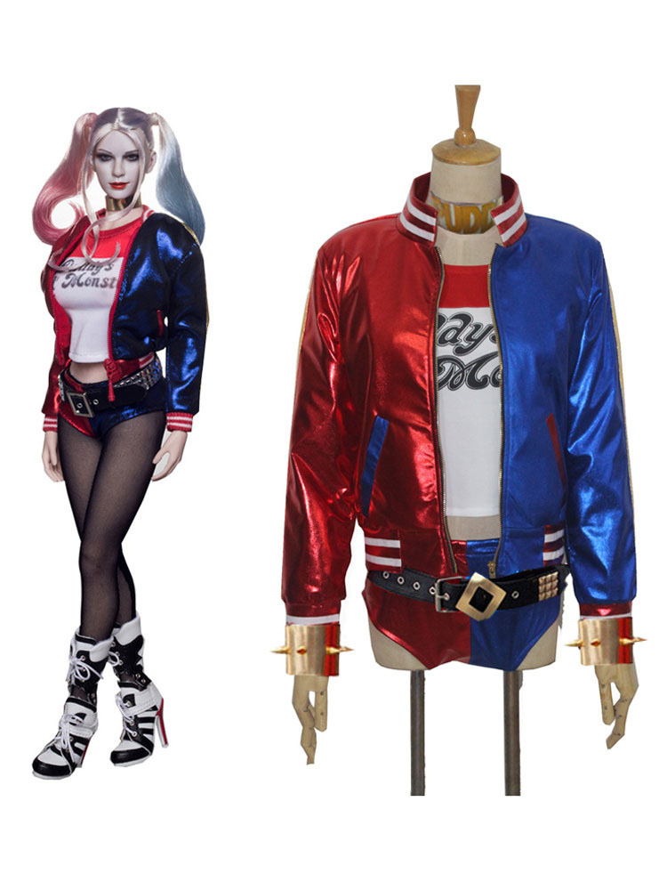 Suicide Squad Harley Quinn Cosplay Costume Full Set Halloween