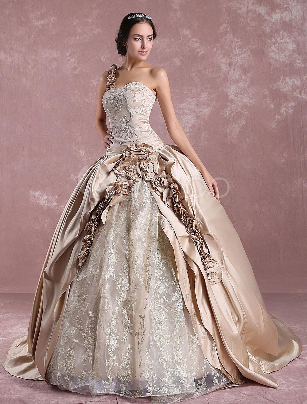 Princess Wedding Dresses Champagne Victoria Bridal Gown