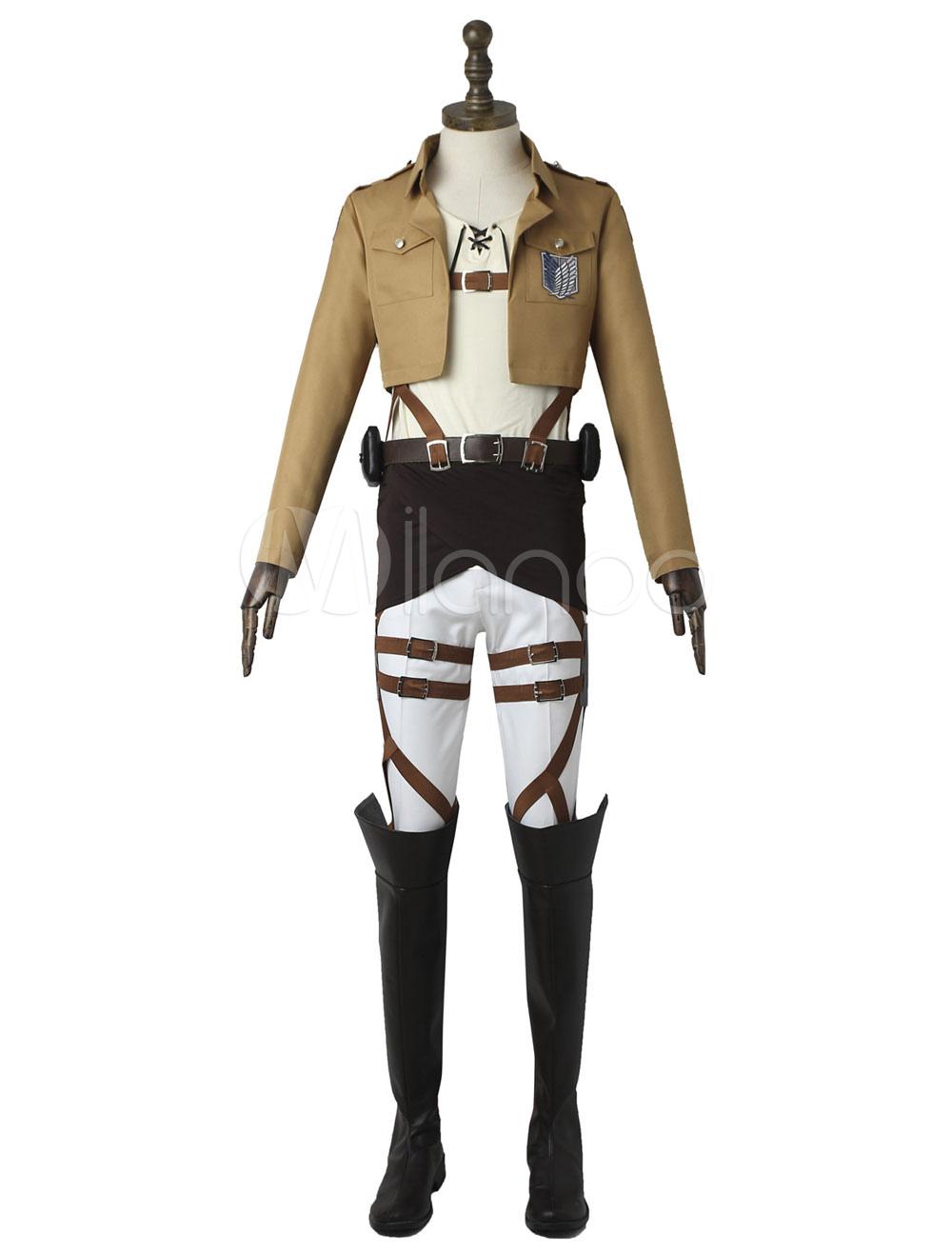Attack On Titan Eren Jaeger Halloween Cosplay Costume ...