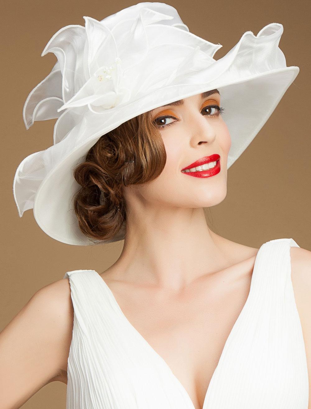 chic cosplay chapeau pour femme en fibre polyester blanc f te de mariage de film chapeau. Black Bedroom Furniture Sets. Home Design Ideas