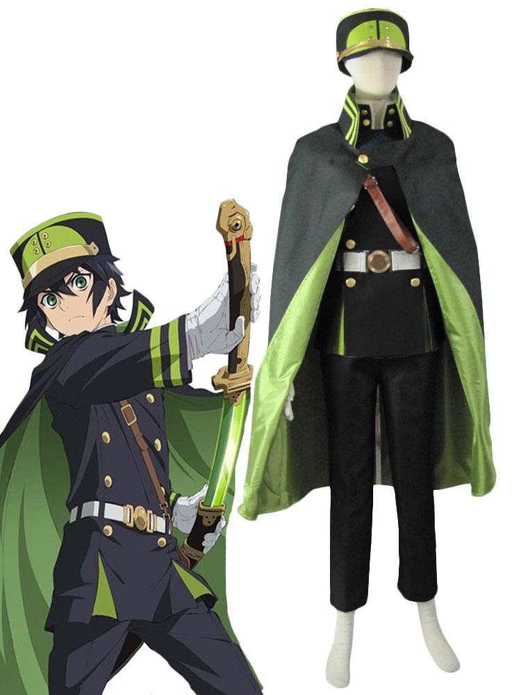 Seraph of the End The Moon Demon Company Yuichiro Hyakuya Uniform Anime Cosplay Costume Halloween