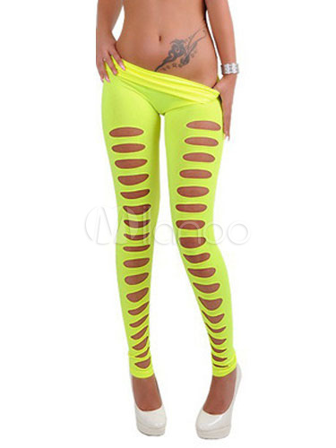 278c572315 Women's Skinny Legging Cut Out Elastic Waist Multi Color Sexy Shaping Tight  ...