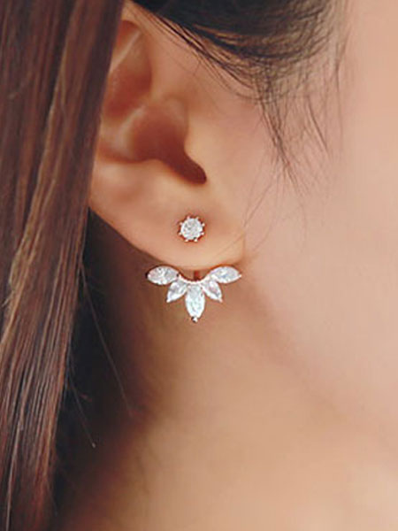 Crystal Stud Earrings Women's Daisy Design Sweet Alloy Ear Pins