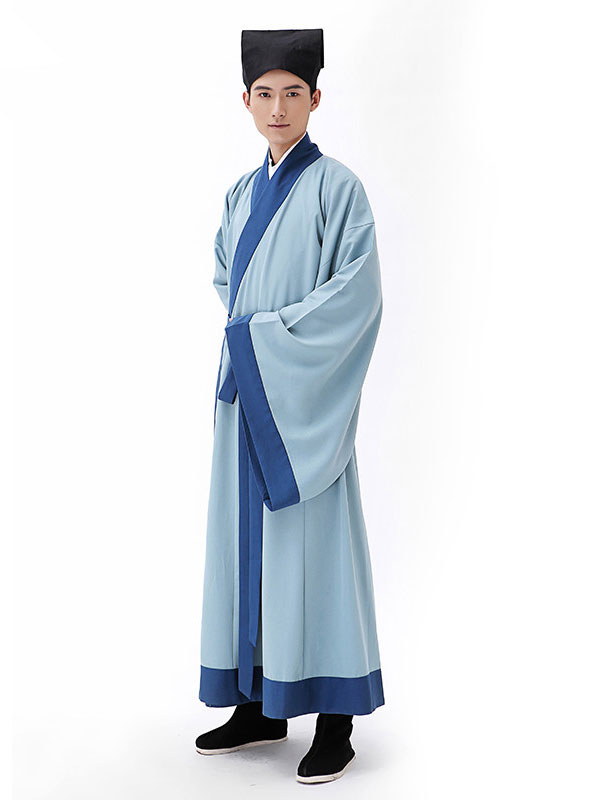 Buy Halloween Chinese Costume Men's Scholar Gown Outfit Ancient Traditional Fancy Dress for $20.99 in Milanoo store