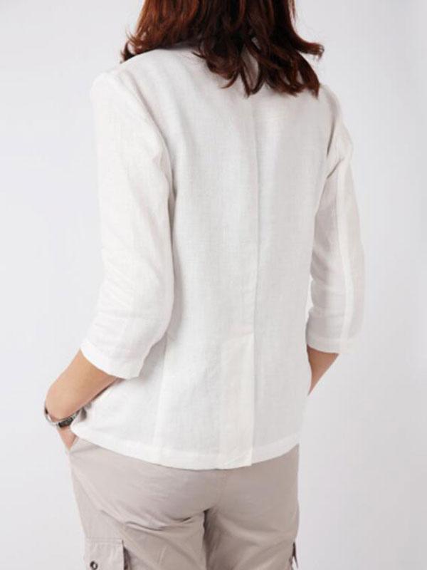 blazer femme 2018 blazer blanc femme trois quarts manches courtes veste femme. Black Bedroom Furniture Sets. Home Design Ideas