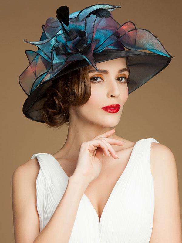 Chic cosplay chapeau pour femme en rayonne de carnaval - Deguisement audrey hepburn ...