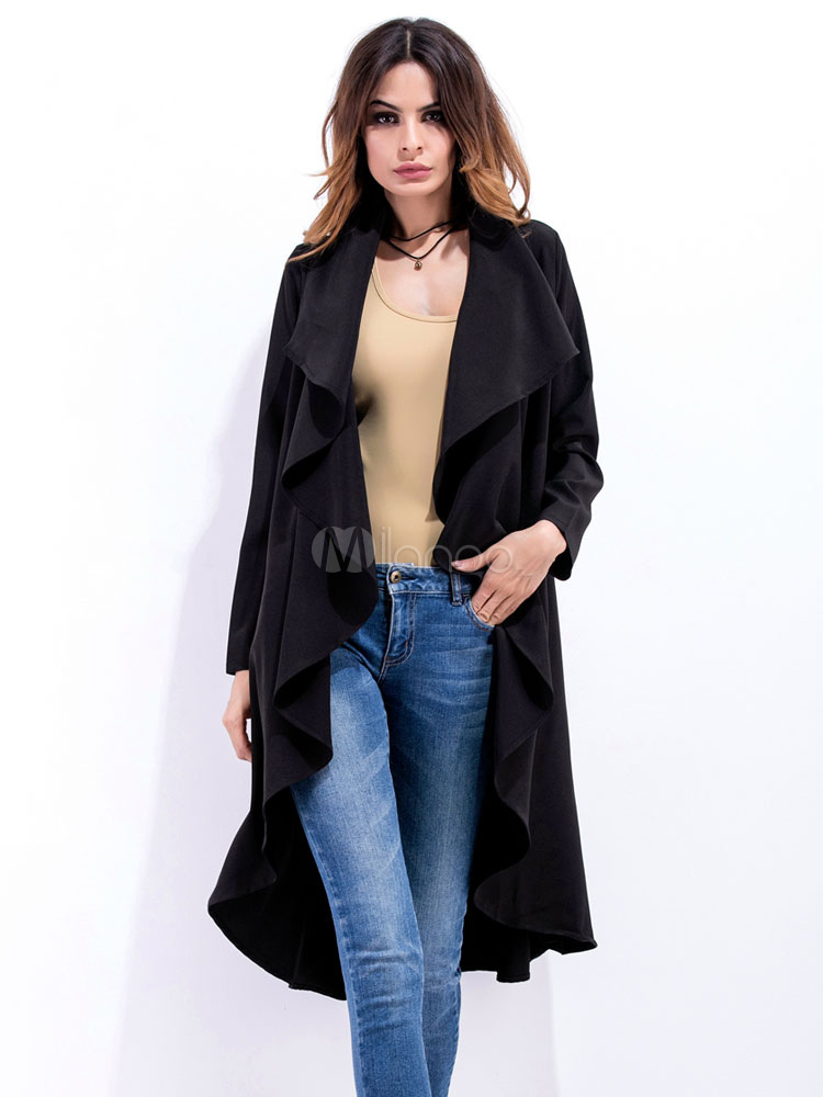 innovative design 6a021 c791f Cappotto lungo donna con maniche lunghe trench donna