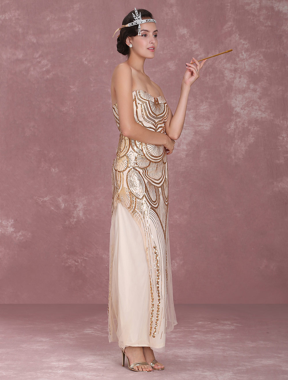 Great Gatsby Flapper Dress 1920s Vintage Costume Women S
