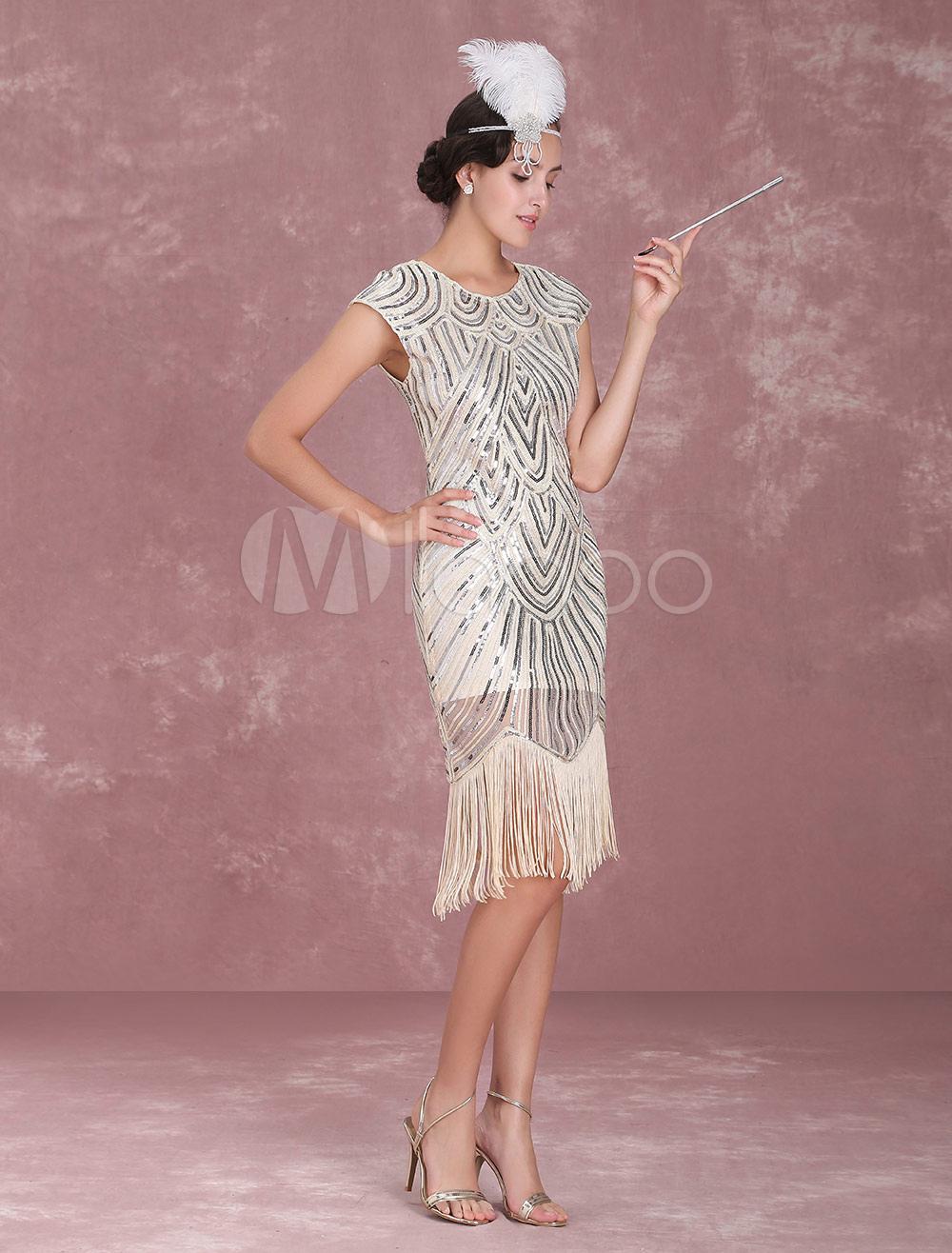 1920s Flapper Dress Great Gatsby Vintage Costume Women's ...