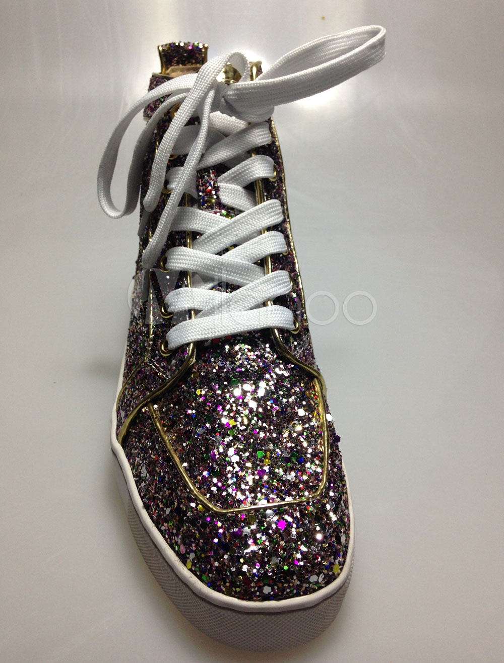 Glitter Sequined Cloth Sneakers for Men