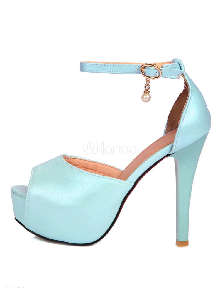 mitad de descuento d8eba cb2a1 Zapatos de plataforma Peep Toe sandalias de tacón cerrados