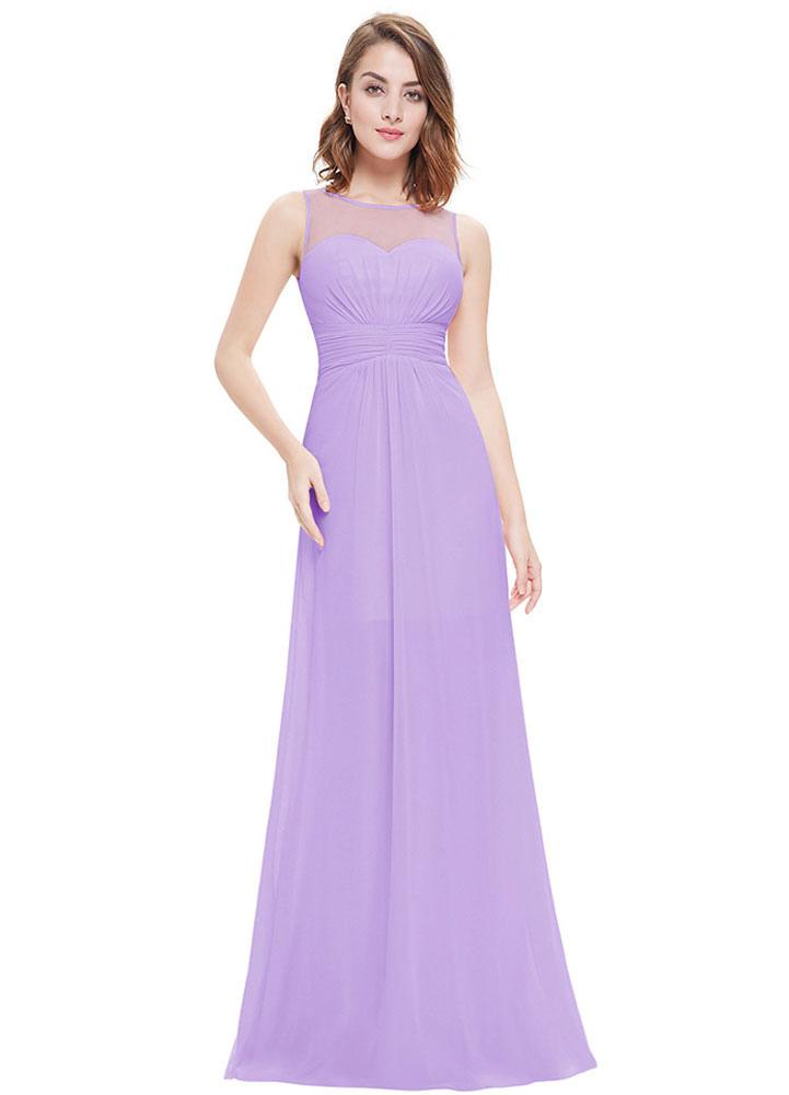 Fiesta vestidos de gasa vestidos de noche rosa de Dama de honor ...