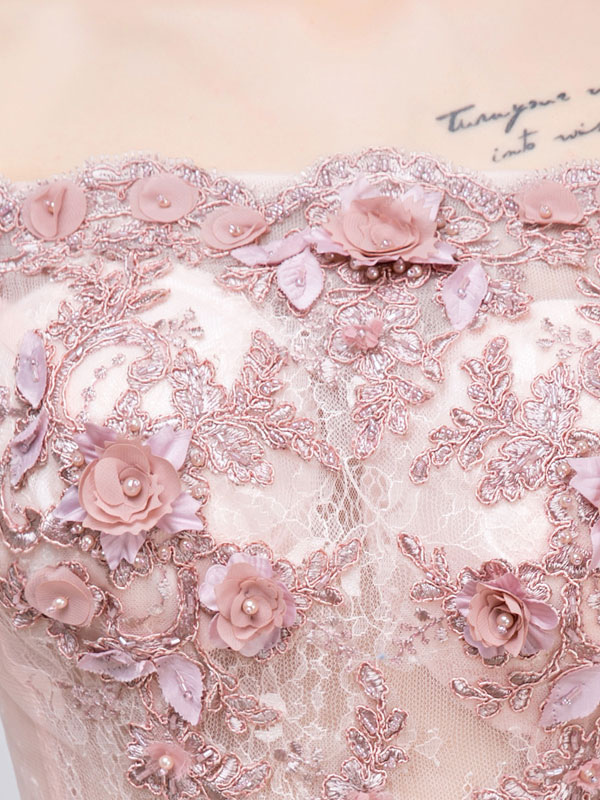 6a305a3809 ... Pink Prom Dresses 2019 Long Tulle Off The Shoulder Prom Dress Lace  Applique Beading Flower Occasion. 1