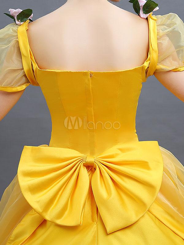 0d89c76201bd4 ... ディズニーカートゥ ハロウィン コスプレコスチューム ドレス イエロー ...