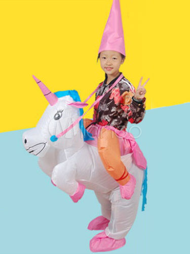 Buy Carry Me Costume Ride On Unicorn Kids' Carrier Carnival Inflatable Suit Halloween for $41.99 in Milanoo store