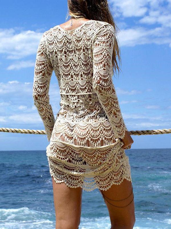 Copricostume Albicocca Cotone Misto Da Spiaggio Abbigliamento