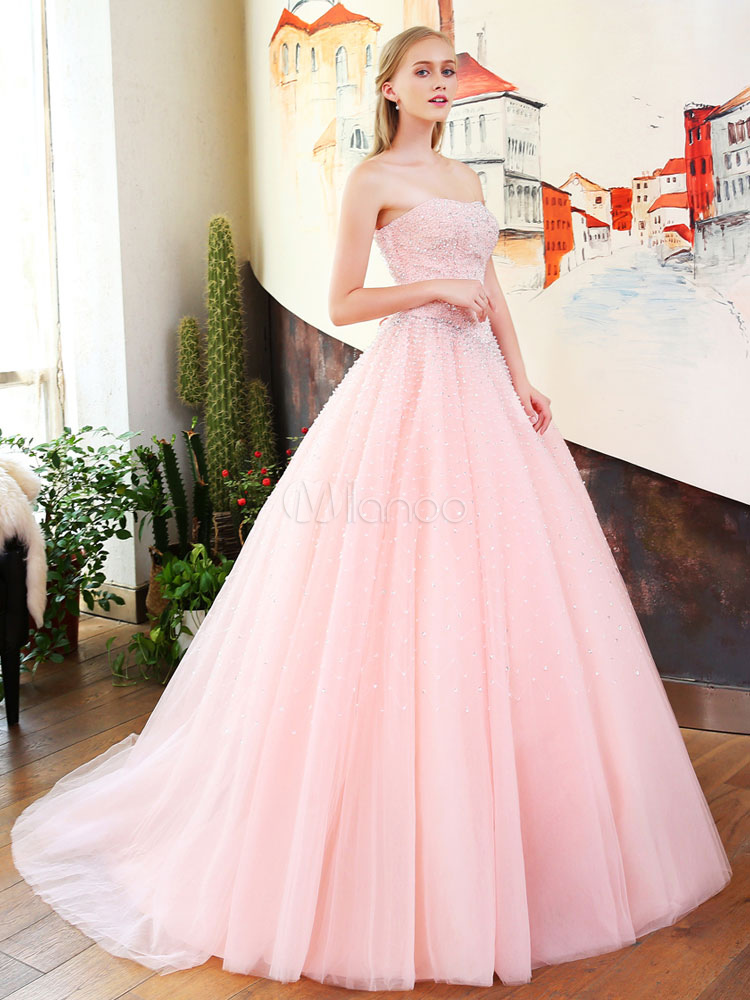 Abiti Da Cerimonia Quinceanera.Vestiti Da Promenade Di Lusso Vestito Rosa Quinceanera Rosa Senza