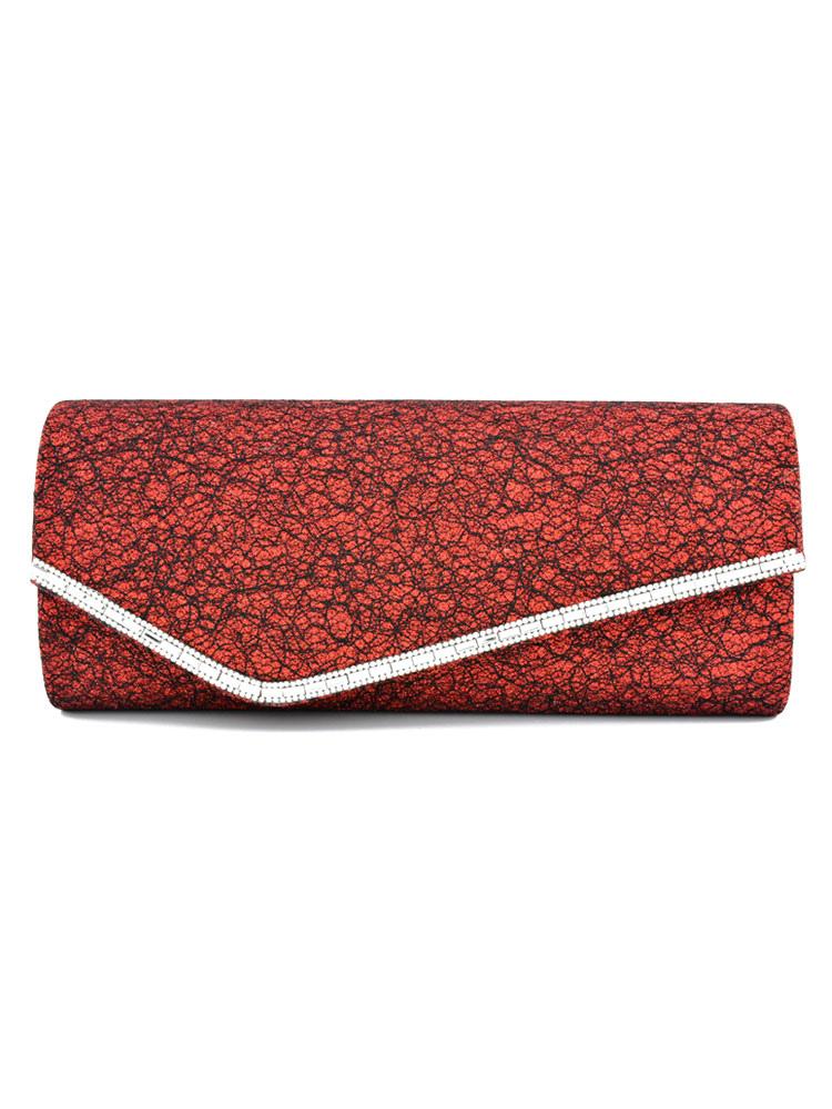 Buy Wedding Clutch Bag Bridal Burgundy Beading Evening Party Handbags for $21.84 in Milanoo store