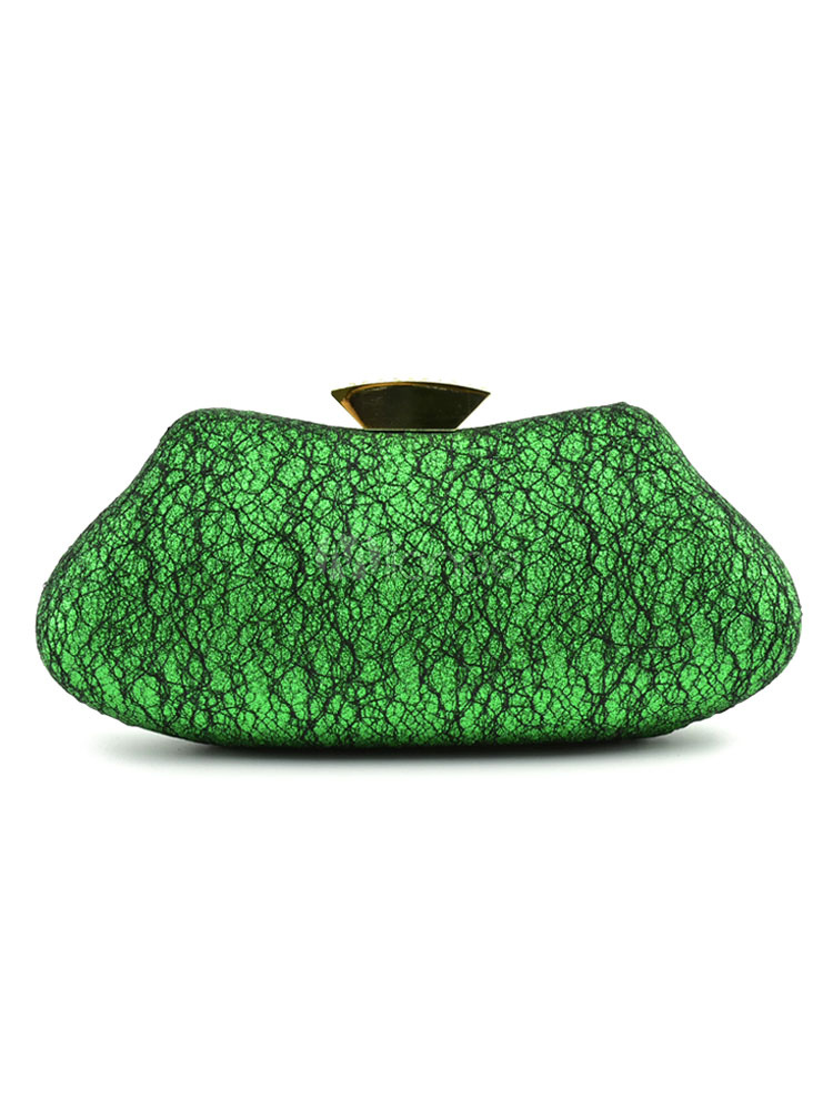 Buy Evening Clutch Bag Green Pillow Shape Bridal Wedding Party Handbags for $37.99 in Milanoo store