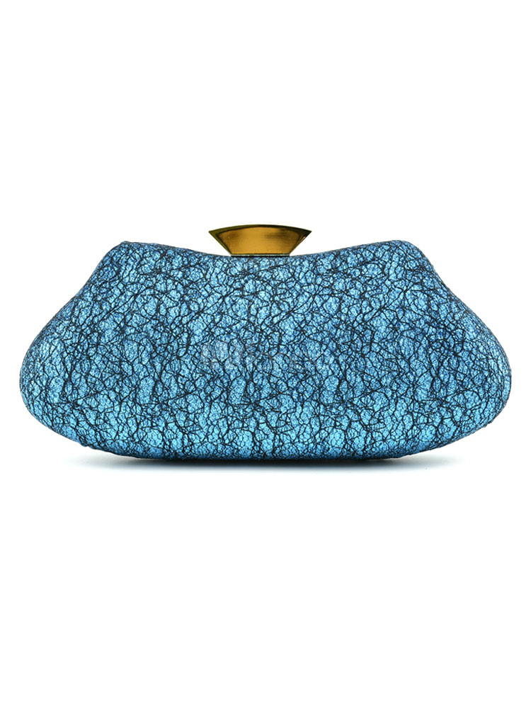 Buy Wedding Clutch Bag Bridal Blue Evening Party Handbags for $47.69 in Milanoo store