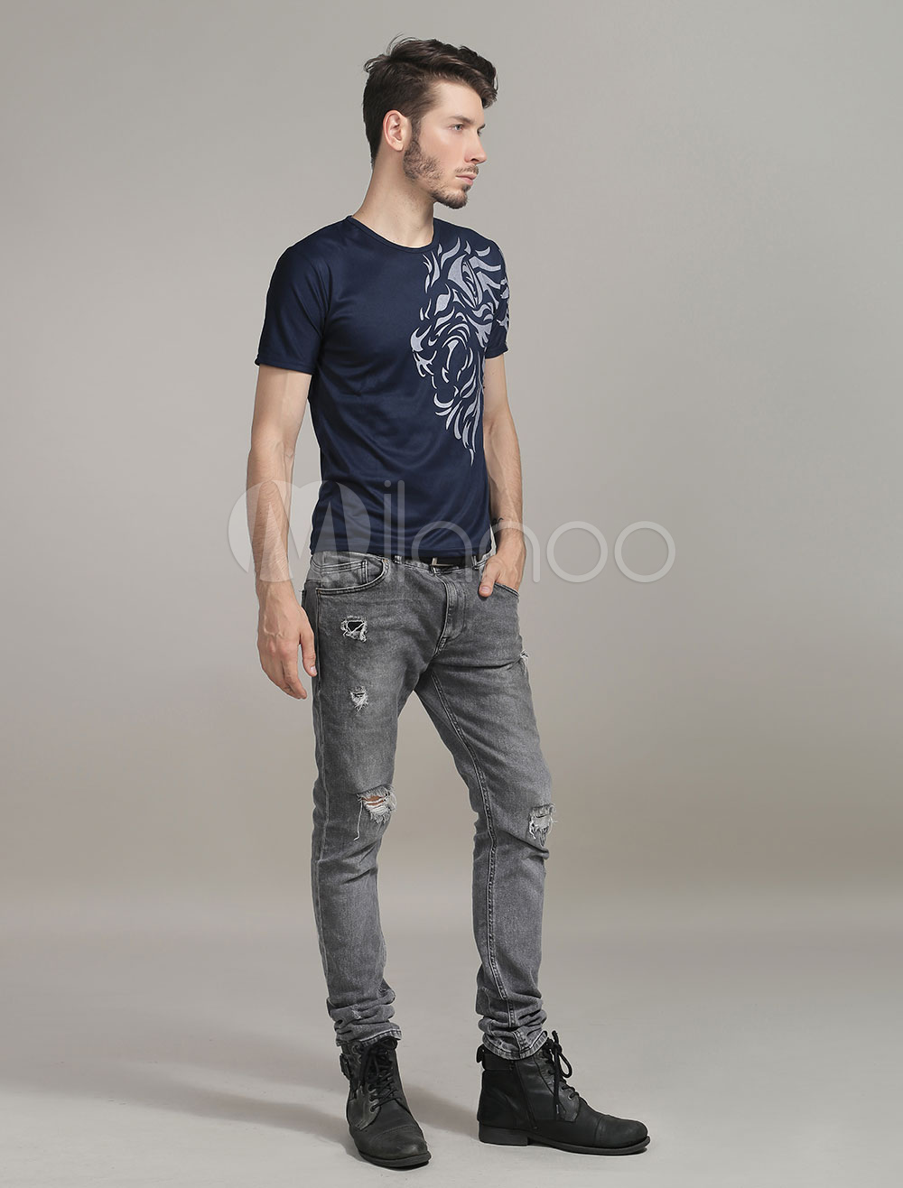Men's Slim Fit T Shirt With Short Sleeves