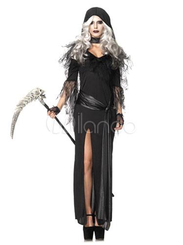 Disfraces de halloween para mujer con vestido negro