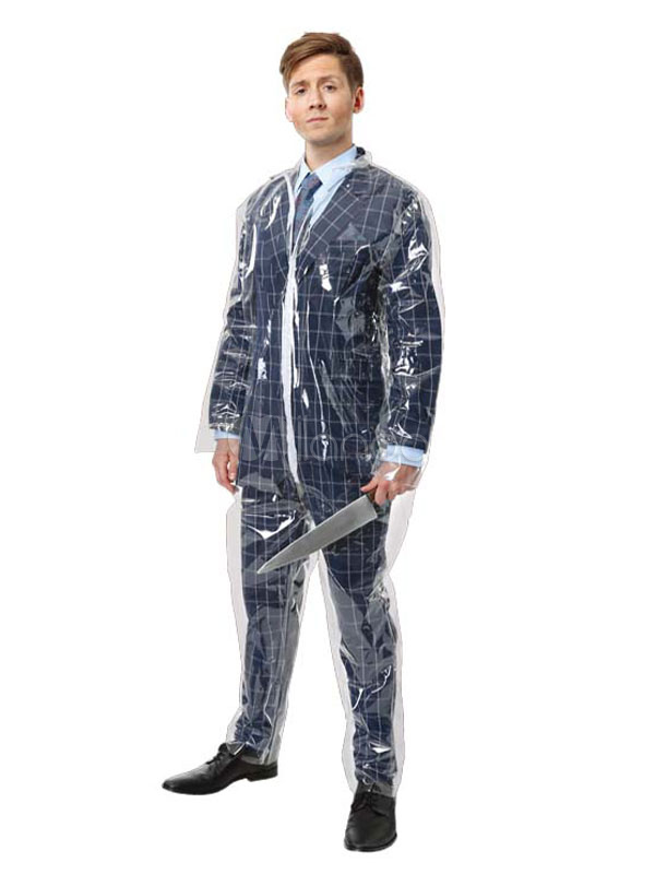 Halloween Costume 398.Men Halloween Costume Transparent Jumpsuit