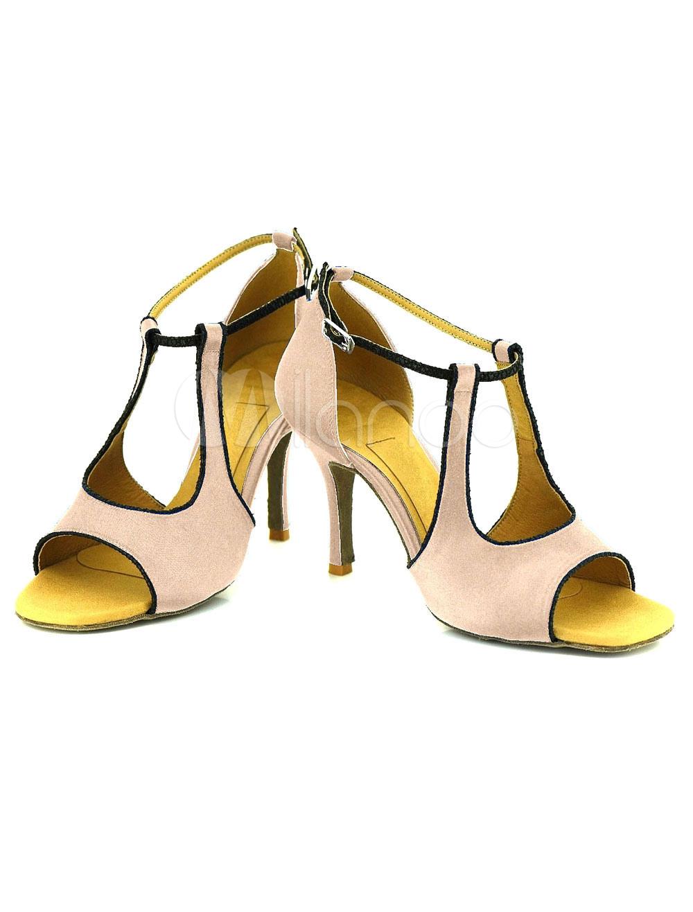 Ankle Strap Dance Shoes High Heel Women's Cut Out Open Toe Ballroom Dance Shoes
