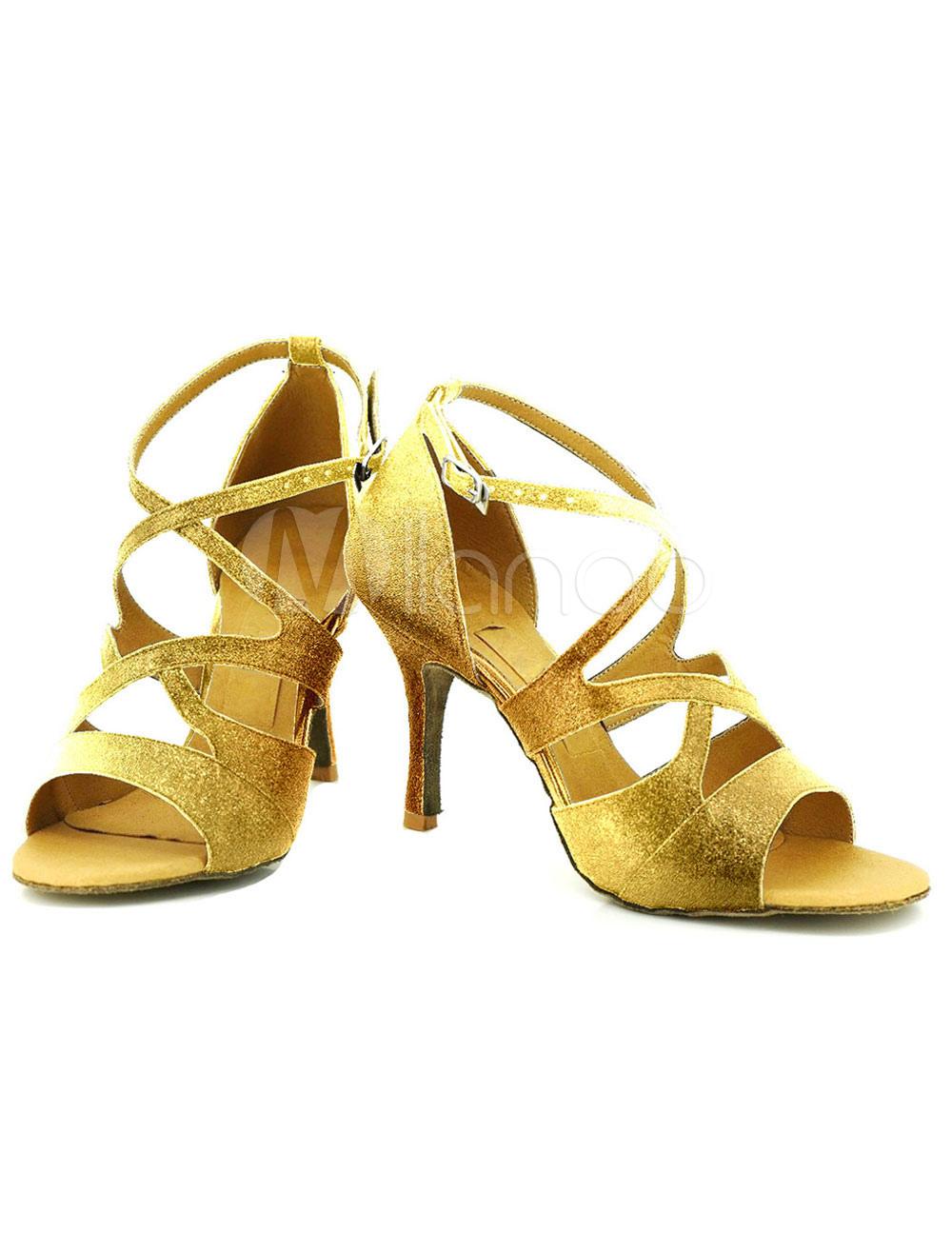 Baile zapatos del alto talón dos colores correa de las mujeres modificado para requisitos particulares zapatos de salón de baile rjqpE2