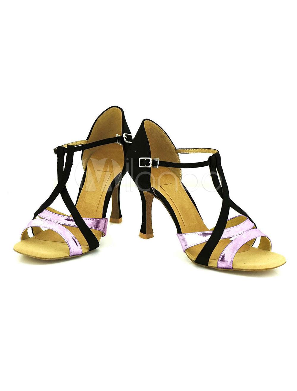De tacón con lentejuelas dos colores danza azul zapatos mujer modificados para requisitos particulares zapatos de salón de baile KAQp8xLw