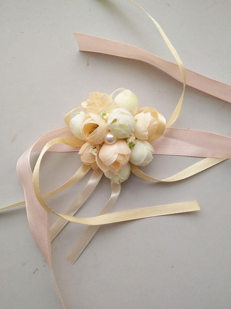 Hochzeitsblumen 2019 Handgelenk Blumen Kunstblumen Mit Schnuren