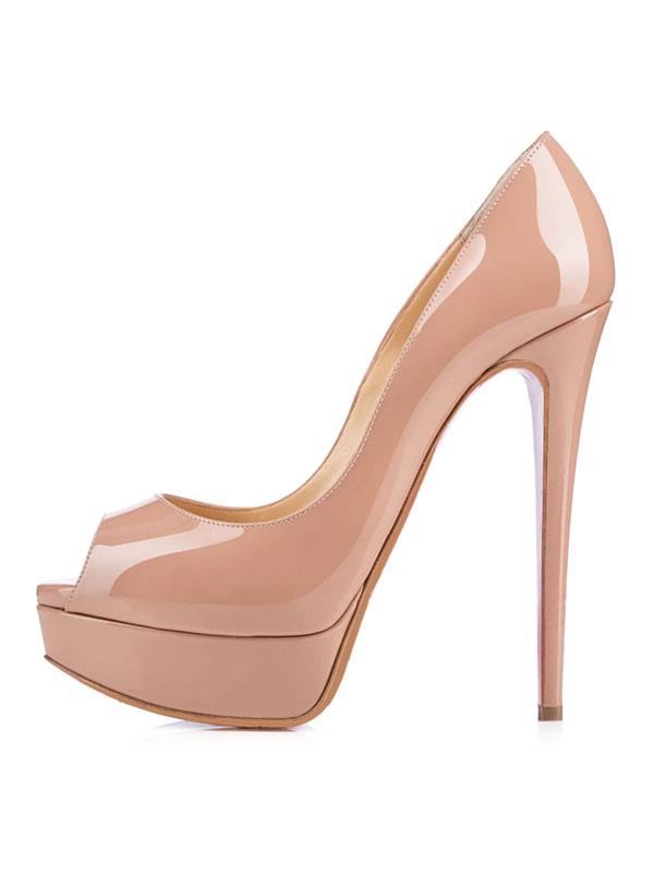 Zapatos peep toe de color blanco de estilo moderno cOMwRm