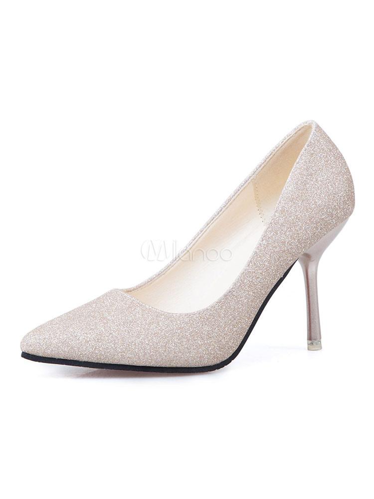 Zapatos de novia Zapatos de tacón alto de tacón de stiletto de puntera puntiaguada Tela-brillantes estilo moderno U6DUw